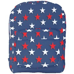 Patriotic Colors America Usa Red Full Print Backpack by Celenk