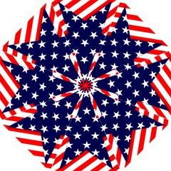 Patriotic Usa Stars Stripes Red Straight Umbrellas by Celenk