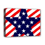 Patriotic Usa Stars Stripes Red Deluxe Canvas 16  x 12