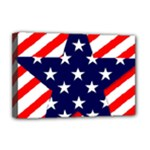 Patriotic Usa Stars Stripes Red Deluxe Canvas 18  x 12