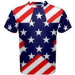 Patriotic Usa Stars Stripes Red Men s Cotton Tee