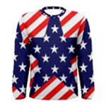 Patriotic Usa Stars Stripes Red Men s Long Sleeve Tee