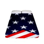 Patriotic Usa Stars Stripes Red Fitted Sheet (Full/ Double Size)