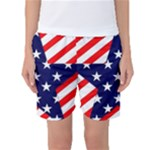 Patriotic Usa Stars Stripes Red Women s Basketball Shorts