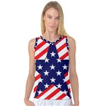 Patriotic Usa Stars Stripes Red Women s Basketball Tank Top