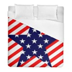 Patriotic Usa Stars Stripes Red Duvet Cover (Full/ Double Size)