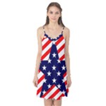 Patriotic Usa Stars Stripes Red Camis Nightgown