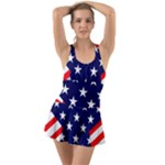 Patriotic Usa Stars Stripes Red Swimsuit