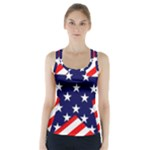 Patriotic Usa Stars Stripes Red Racer Back Sports Top