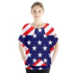 Patriotic Usa Stars Stripes Red Blouse