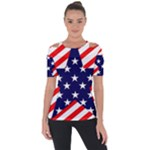 Patriotic Usa Stars Stripes Red Short Sleeve Top