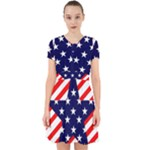 Patriotic Usa Stars Stripes Red Adorable in Chiffon Dress