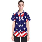 Patriotic Usa Stars Stripes Red Women s Short Sleeve Shirt