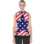 Patriotic Usa Stars Stripes Red Shell Top