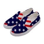 Patriotic Usa Stars Stripes Red Women s Canvas Slip Ons