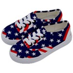 Patriotic Usa Stars Stripes Red Kids  Classic Low Top Sneakers