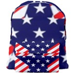 Patriotic Usa Stars Stripes Red Giant Full Print Backpack