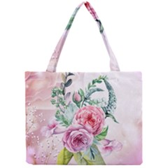 Flowers And Leaves In Soft Purple Colors Mini Tote Bag by FantasyWorld7