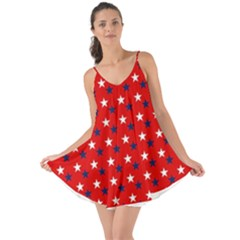 Patriotic Red White Blue Usa Love The Sun Cover Up by Celenk
