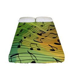 Music Notes Fitted Sheet (full/ Double Size) by linceazul