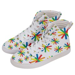 Celebrate Pattern Colorful Design Women s Hi Top Skate Sneakers by Celenk