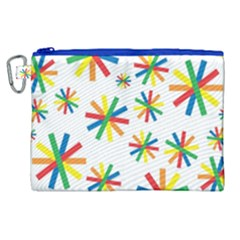 Celebrate Pattern Colorful Design Canvas Cosmetic Bag (xl)