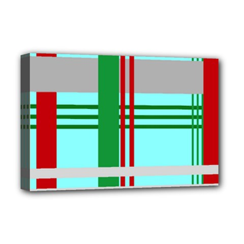 Christmas Plaid Backgrounds Plaid Deluxe Canvas 18  X 12   by Celenk