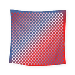 Dots Red White Blue Gradient Square Tapestry (small) by Celenk
