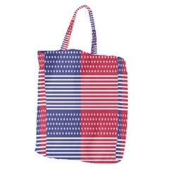 American Flag Patriot Red White Giant Grocery Zipper Tote by Celenk