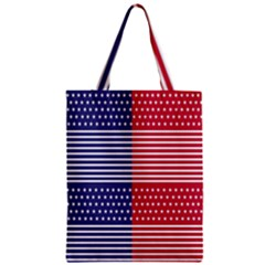American Flag Patriot Red White Zipper Classic Tote Bag by Celenk