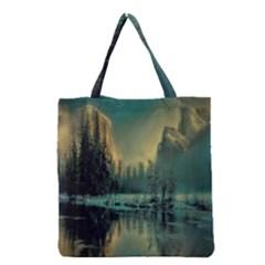 Yosemite Park Landscape Sunrise Grocery Tote Bag by Celenk
