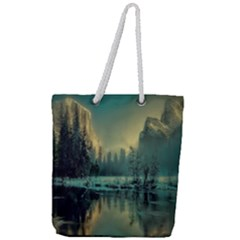 Yosemite Park Landscape Sunrise Full Print Rope Handle Tote (large) by Celenk