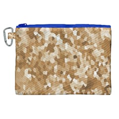 Texture Background Backdrop Brown Canvas Cosmetic Bag (xl)