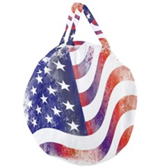 Usa Flag America American Giant Round Zipper Tote by Celenk