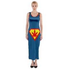 Super Dealer Fitted Maxi Dress by PodArtist