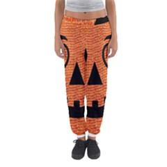 Fabric Halloween Pumpkin Funny Women s Jogger Sweatpants by Celenk