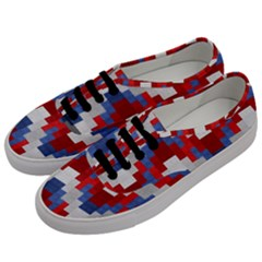 Texture Textile Surface Fabric Men s Classic Low Top Sneakers by Celenk