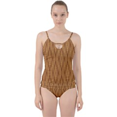 Wood Background Backdrop Plank Cut Out Top Tankini Set