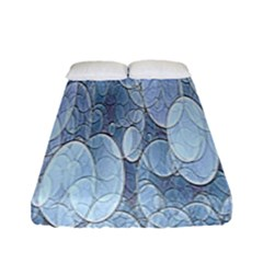 Bubbles Texture Blue Shades Fitted Sheet (full/ Double Size) by Celenk