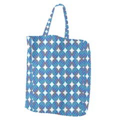 Geometric Dots Pattern Rainbow Giant Grocery Zipper Tote