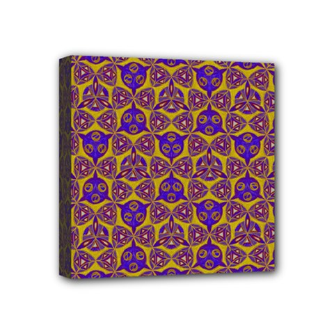 Sacred Geometry Hand Drawing 2 Mini Canvas 4  X 4  by Cveti