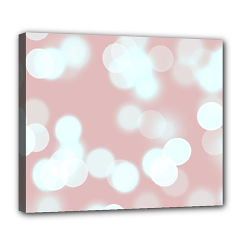 Soft Lights Bokeh 5 Deluxe Canvas 24  X 20   by MoreColorsinLife