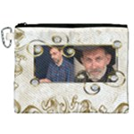 Gold Canvas Cosmetic Bag (XXL)