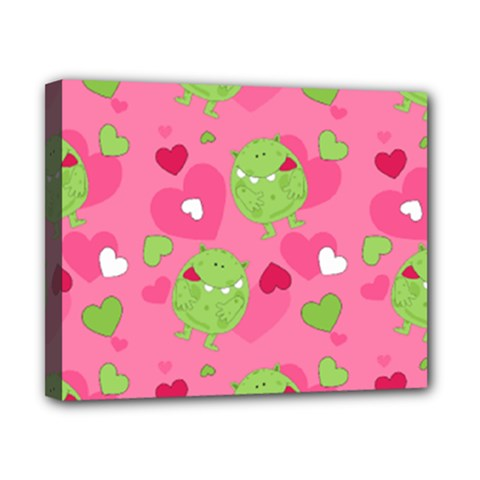 Monster Love Pattern Canvas 10  X 8  by allthingseveryday