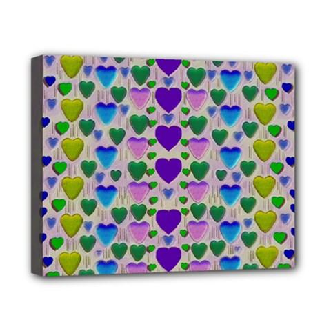 Love In Eternity Is Sweet As Candy Pop Art Canvas 10  X 8  by pepitasart