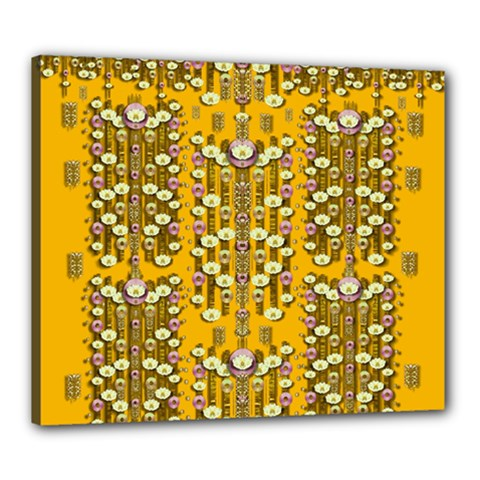 Rain Showers In The Rain Forest Of Bloom And Decorative Liana Canvas 24  X 20  by pepitasart