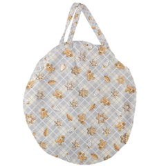 Gingerbread Light Giant Round Zipper Tote by jumpercat