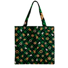 Gingerbread Green Grocery Tote Bag by jumpercat