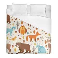 Woodland Friends Pattern Duvet Cover (full/ Double Size) by allthingseveryday