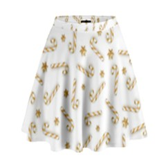 Golden Candycane Light High Waist Skirt by jumpercat